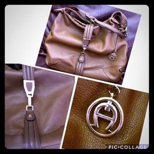 EUC ETIENNE AIGNER Hobo in Brown/Tan Shoulder Bag